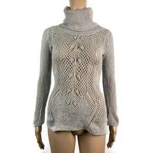 Anthropologie Guinevere Angora Blend Sweater Gray